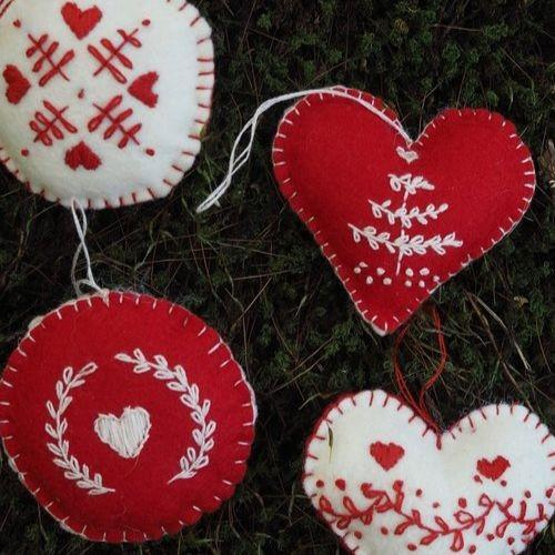 Ms. Cleaver Embroidery Kit, Felt Ornament, by Leah B. Thibault