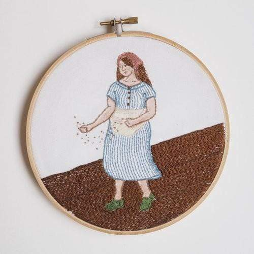 Ms. Cleaver Embroidery Kit, Seed Sower, by Leah B. Thibault