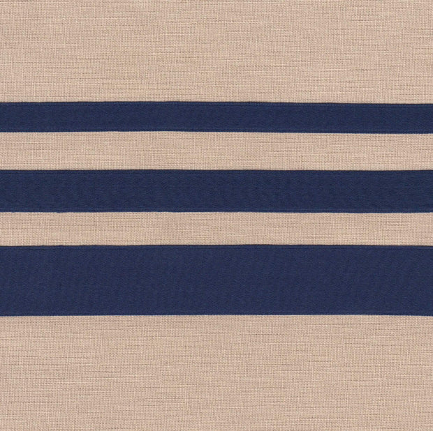 "3/8"" wide Navy Cotton Ribbon with Satin Finish"