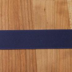 Navy Cotton Ribbon with Satin Finish