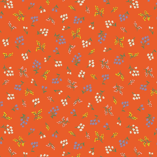 Petites Fleurs in Rifle Red - Strawberry Fields by Rifle Paper Co.