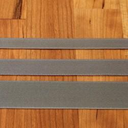 Pewter Cotton Ribbon with Satin Finish