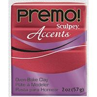 Red Glitter Premo Modeling Clay, 2 oz