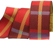 Red Woven Plaid, Renaissance Ribbons