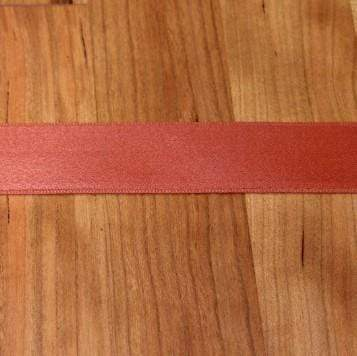 Rust Cotton Ribbon with Satin Finish