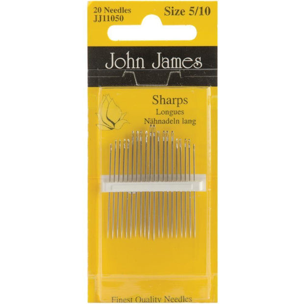Sharps, Size 5/10, 20 Count, John James