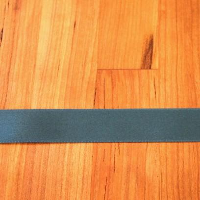 Teal Cotton Ribbon with Satin Finish