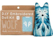 Wolf Embroidery Kit from Kiriki