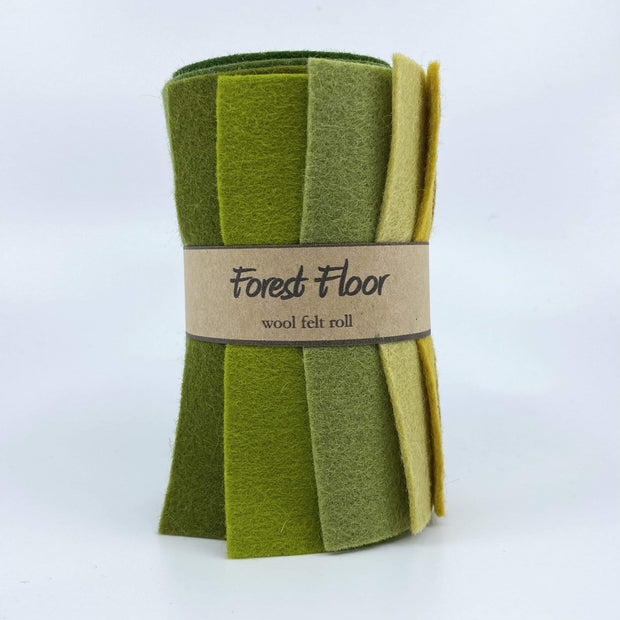 Wool Felt Roll ~ Forest Floor