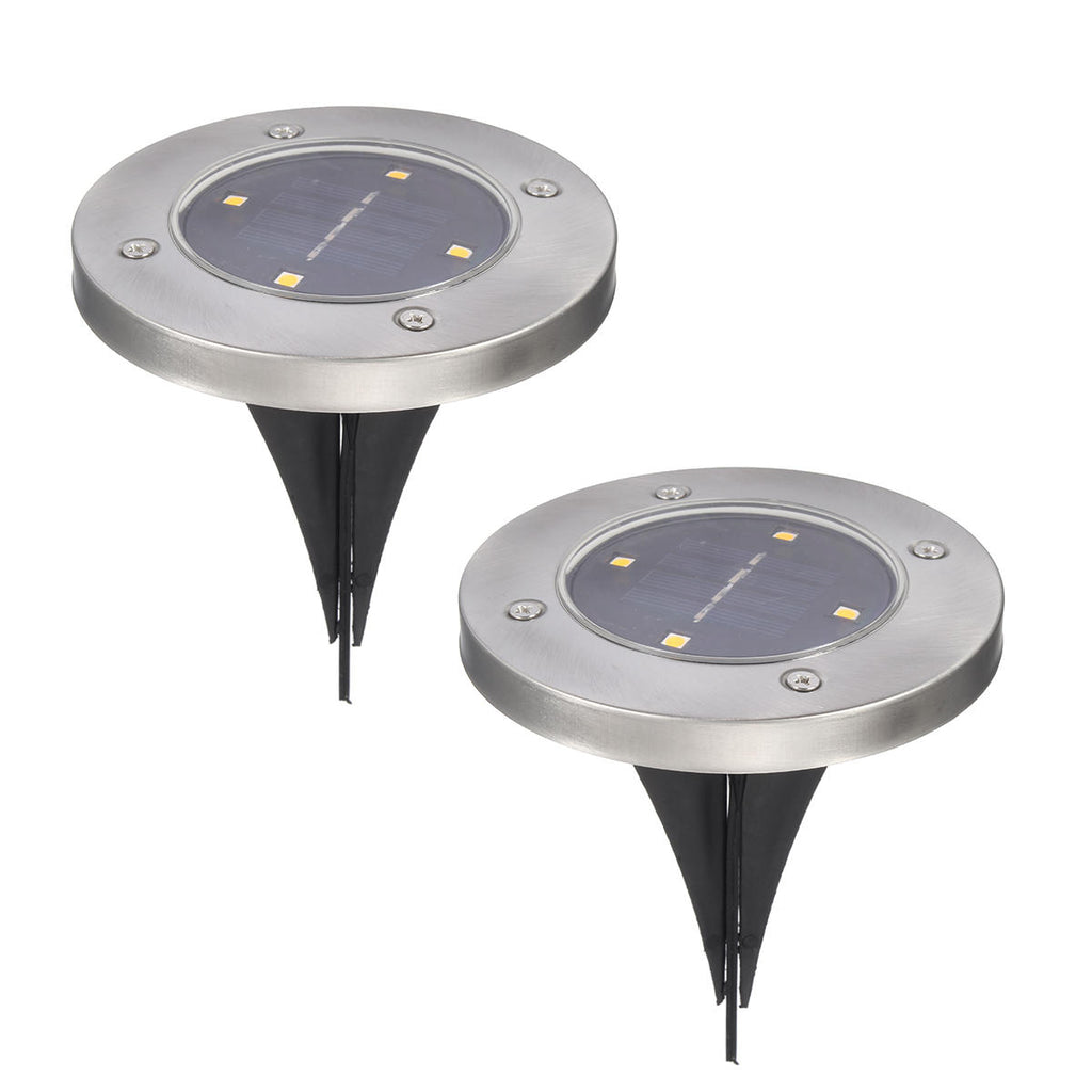 Aglow™ 2PCS Outdoor Solar Path Lights for Walkway or Garden- LED & Waterproof