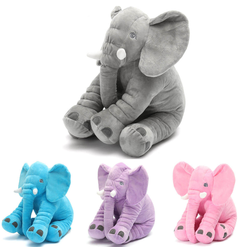 AnimalLove™ Stuffed Animal Elephant Pillow for Toddlers, Infants or Kids in Four Colors