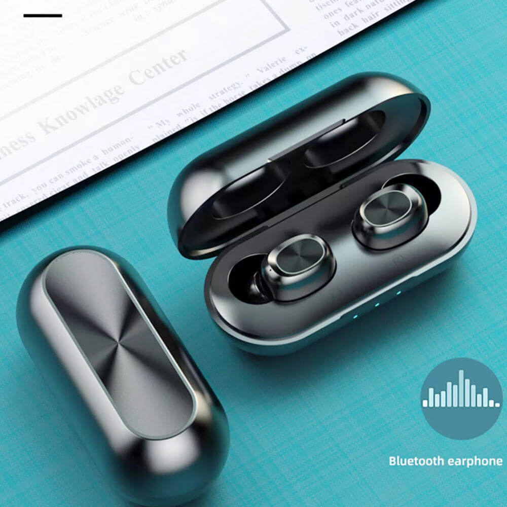Waterproof Bluetooth Earbuds with Charging Box