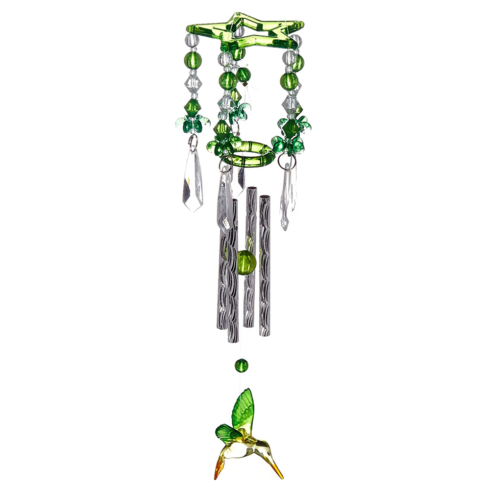 Bargainova™ Wind Chimes with Green Hummingbirds