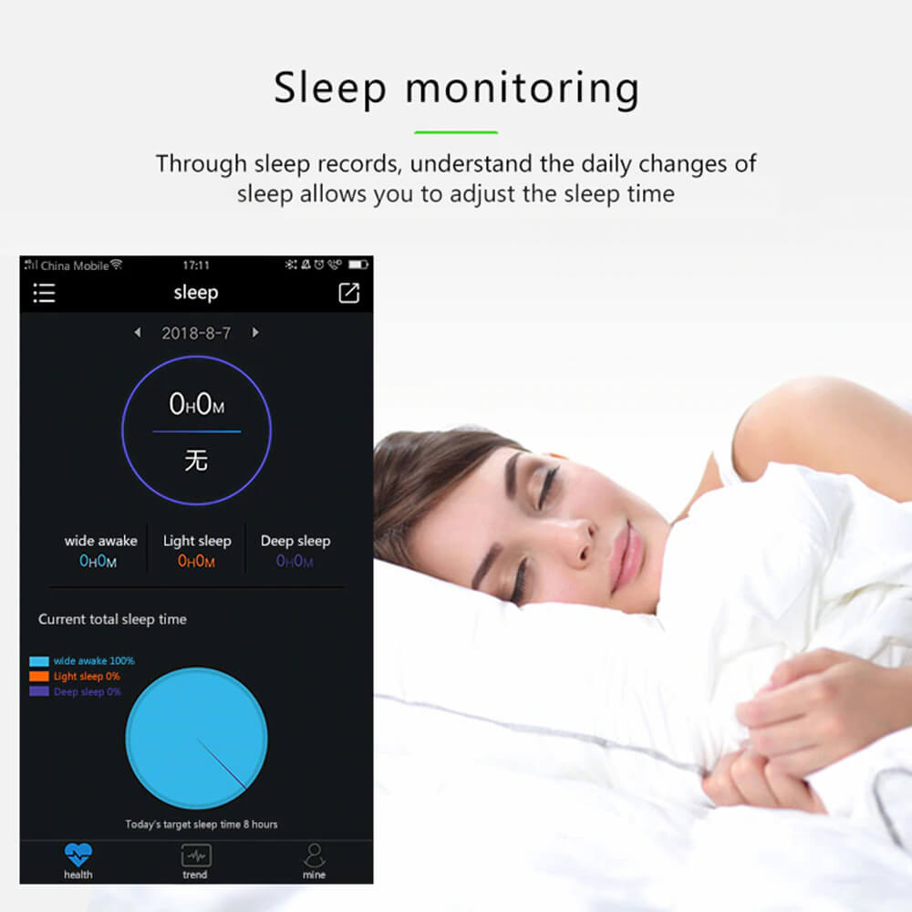 Blood Pressure and Heart Rate Monitor Smartwatch with Sleep Monitor