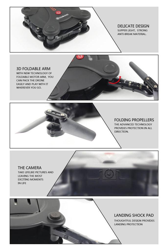 Bargainova™ Foldable Mini Drone with HD Camera Design
