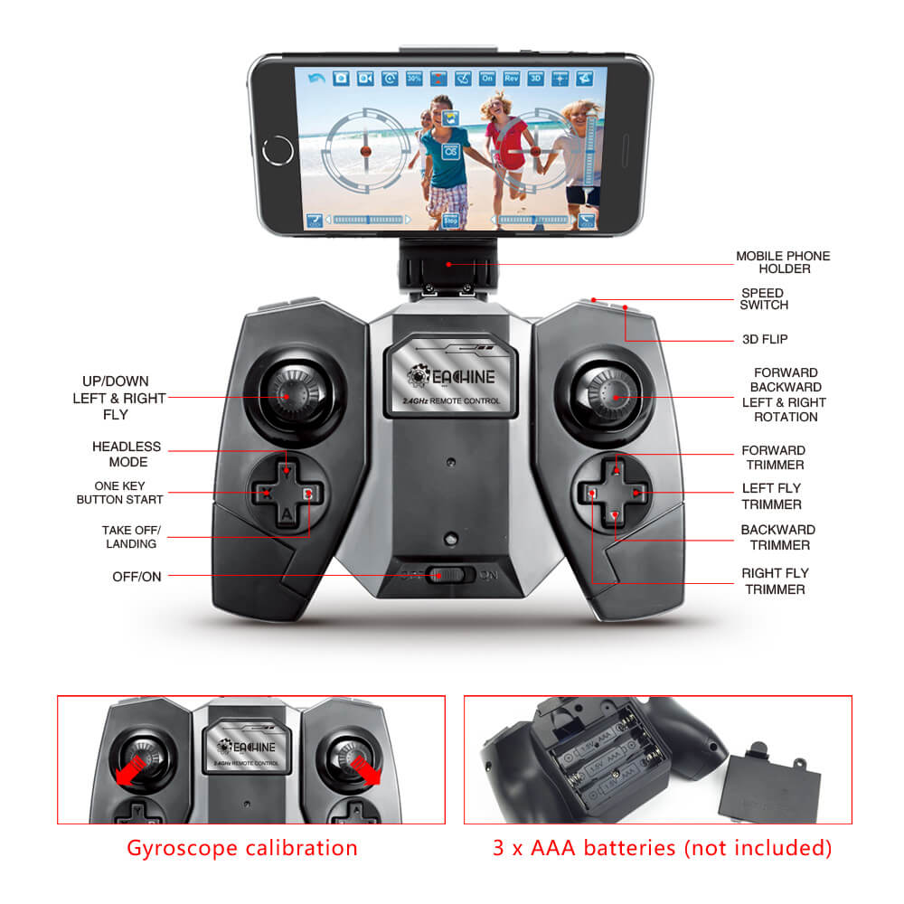 Bargainova™ Foldable Mini Drone with HD Camera Remote Functions