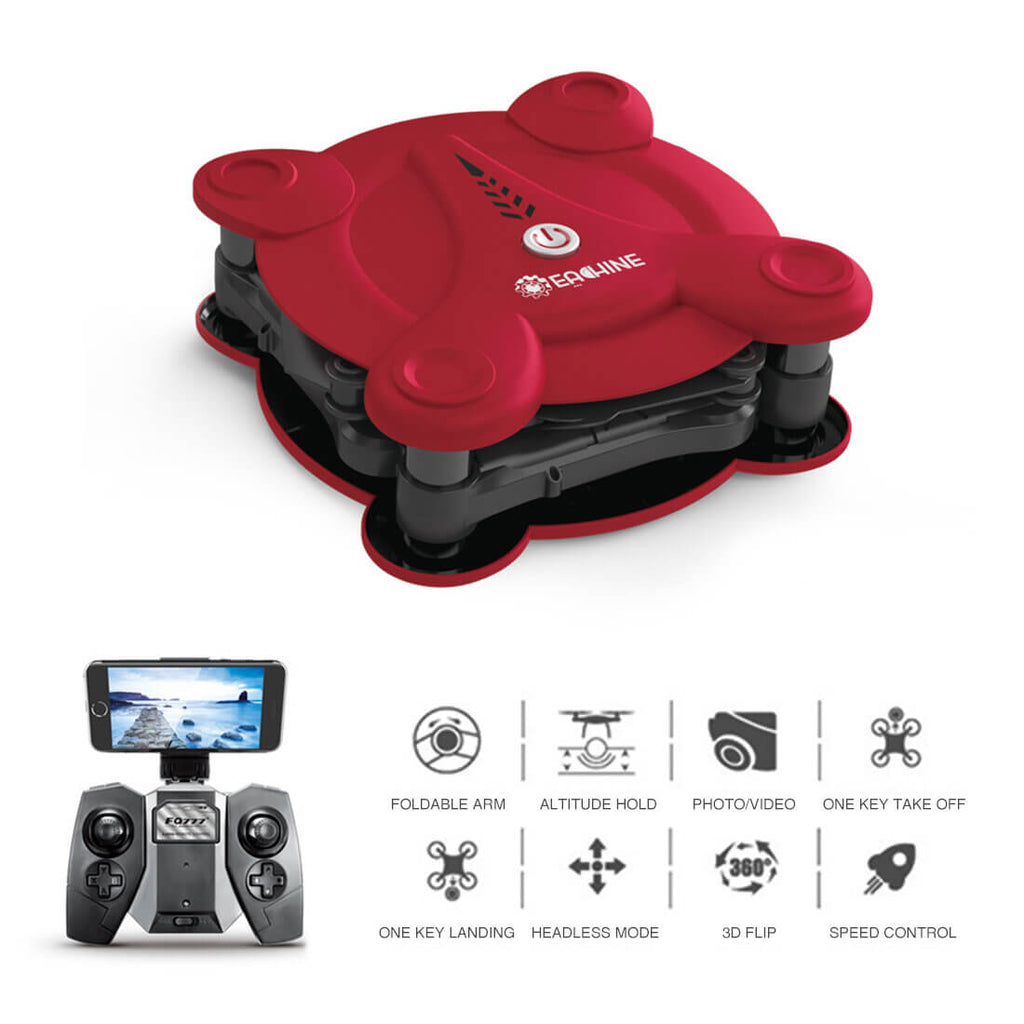 Bargainova™ Red Foldable Mini Drone with HD Camera