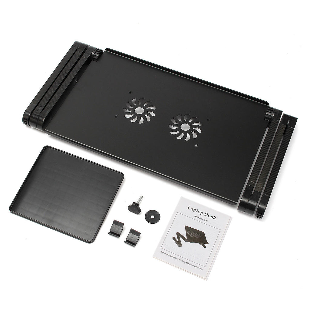 Bargainova™ Portable Folding Laptop Desk with Mouse Pad Cooling Hole
