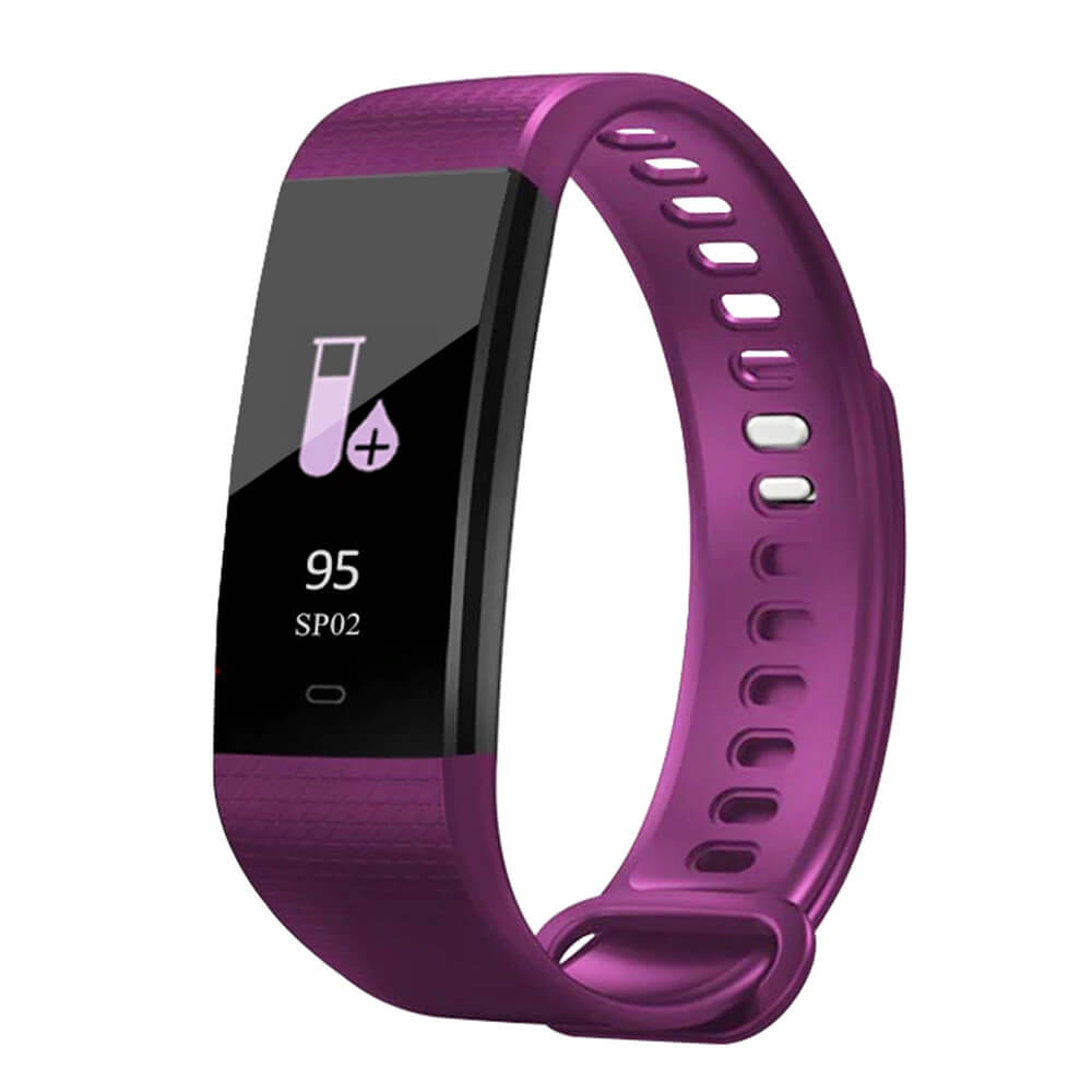 Purple Blood Pressure and Heart Rate Monitor Smartwatch