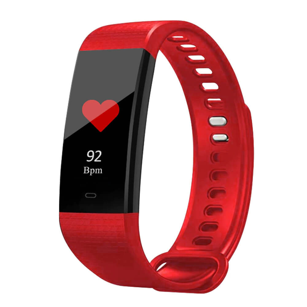 Red Blood Pressure and Heart Rate Monitor Smartwatch