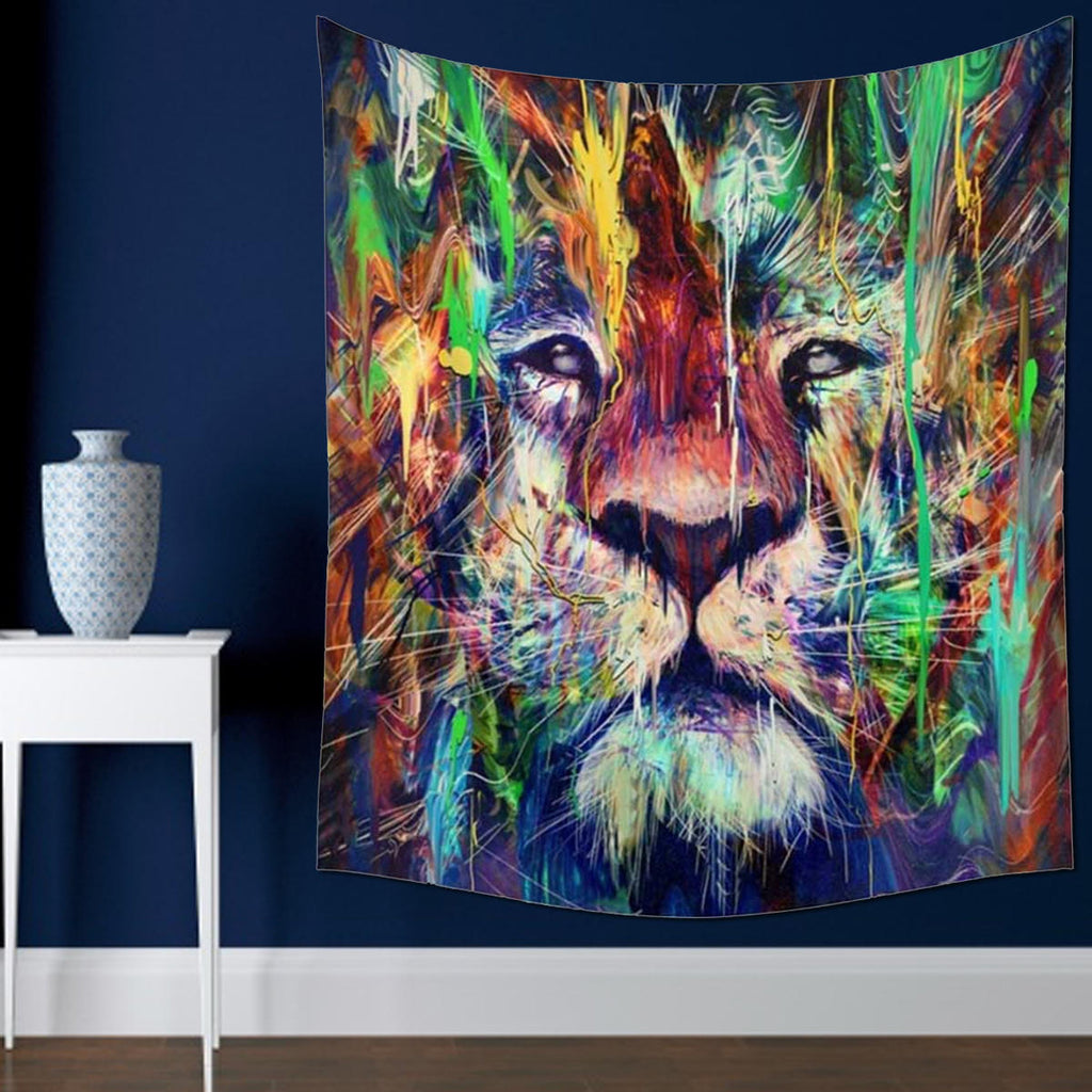 Bargainova™ Trippy Lion Wall Tapestry - Cool Home Decor Wall Hanging