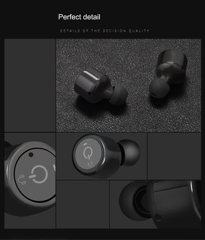 X1T Waterproof Wireless Earbuds with MIC Voice Prompt Design