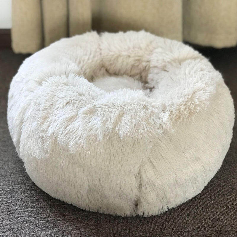 Beige BossPet™ Cat and Dog Bed with Super Soft Cute Kennel