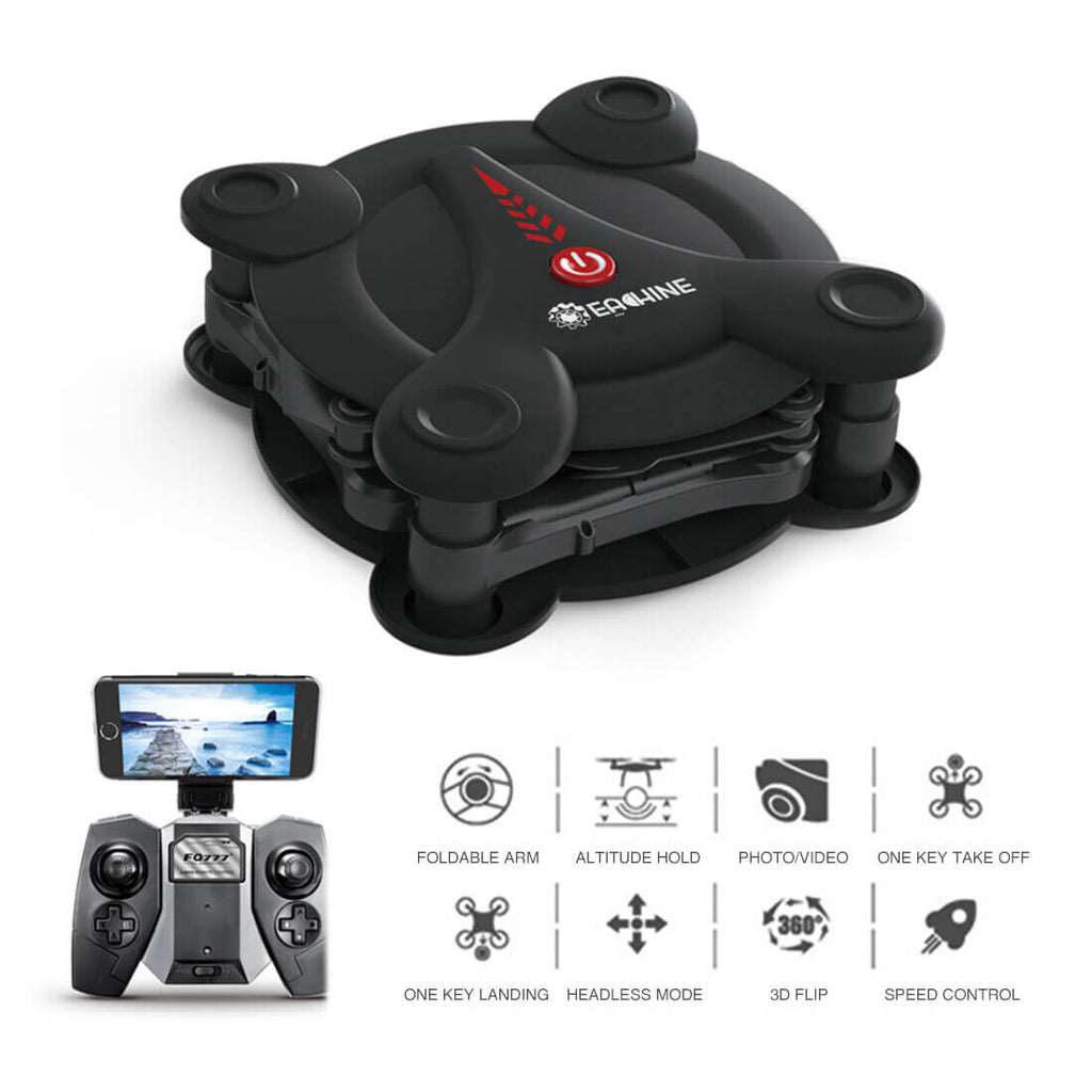 Black Foldable Mini Drone with HD Camera