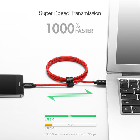 BlitzWolf USB 3.0 to Type- C Fast Charging Data Cable