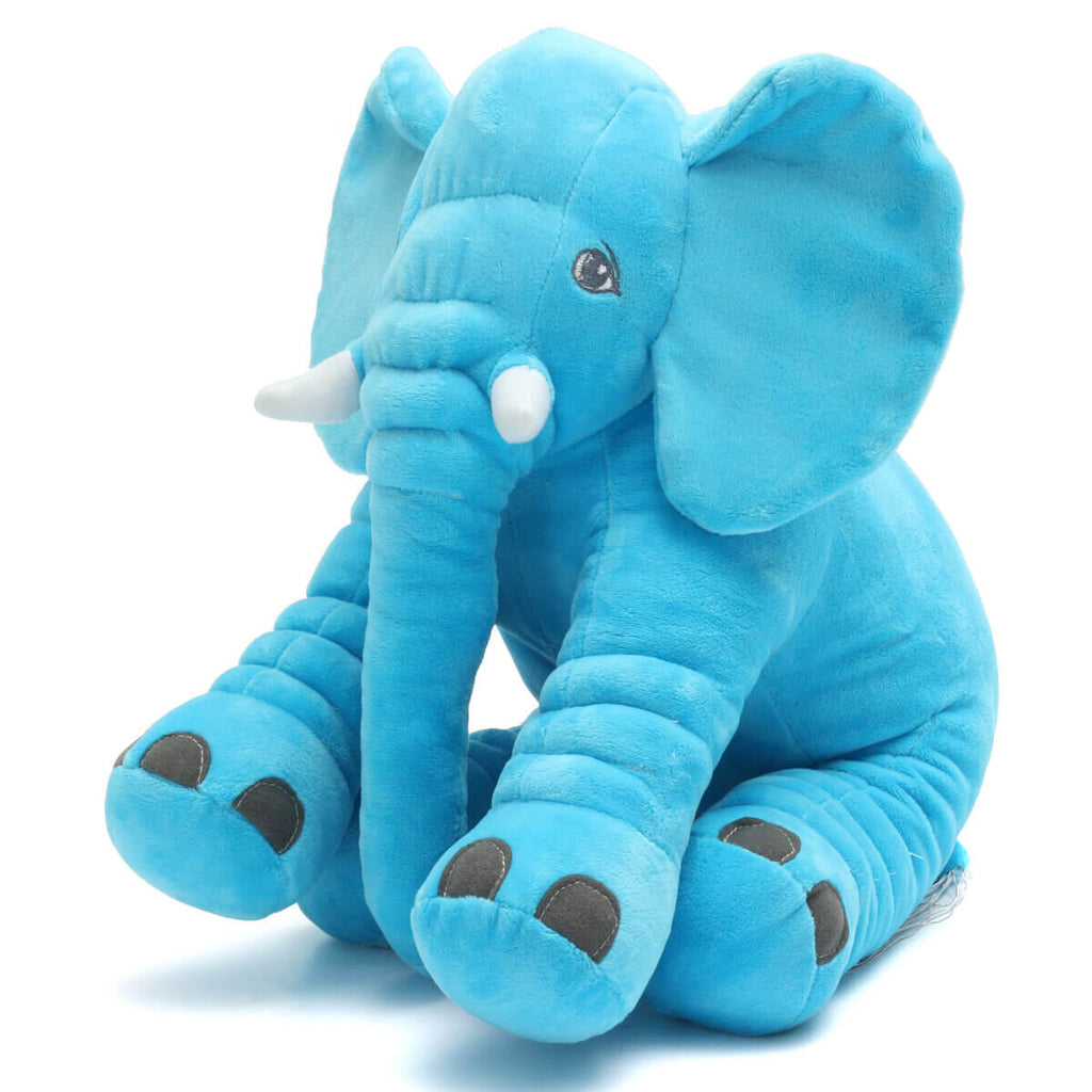 Blue AnimalLove™ Stuffed Animal Elephant Pillow for Toddlers, Infants or Kids