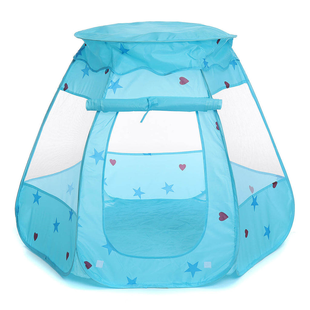 Blue TentRus™ Tent and Ball Pit for Baby, Toddlers, or Kids