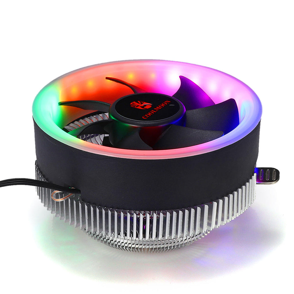 Coolmoon CPU Cooler Fan with LED Lights for Intel & AMD