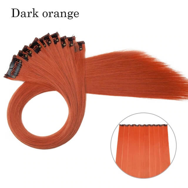 Dark Orange LuxDiva™ 20 inches Hair Extension with Highlight