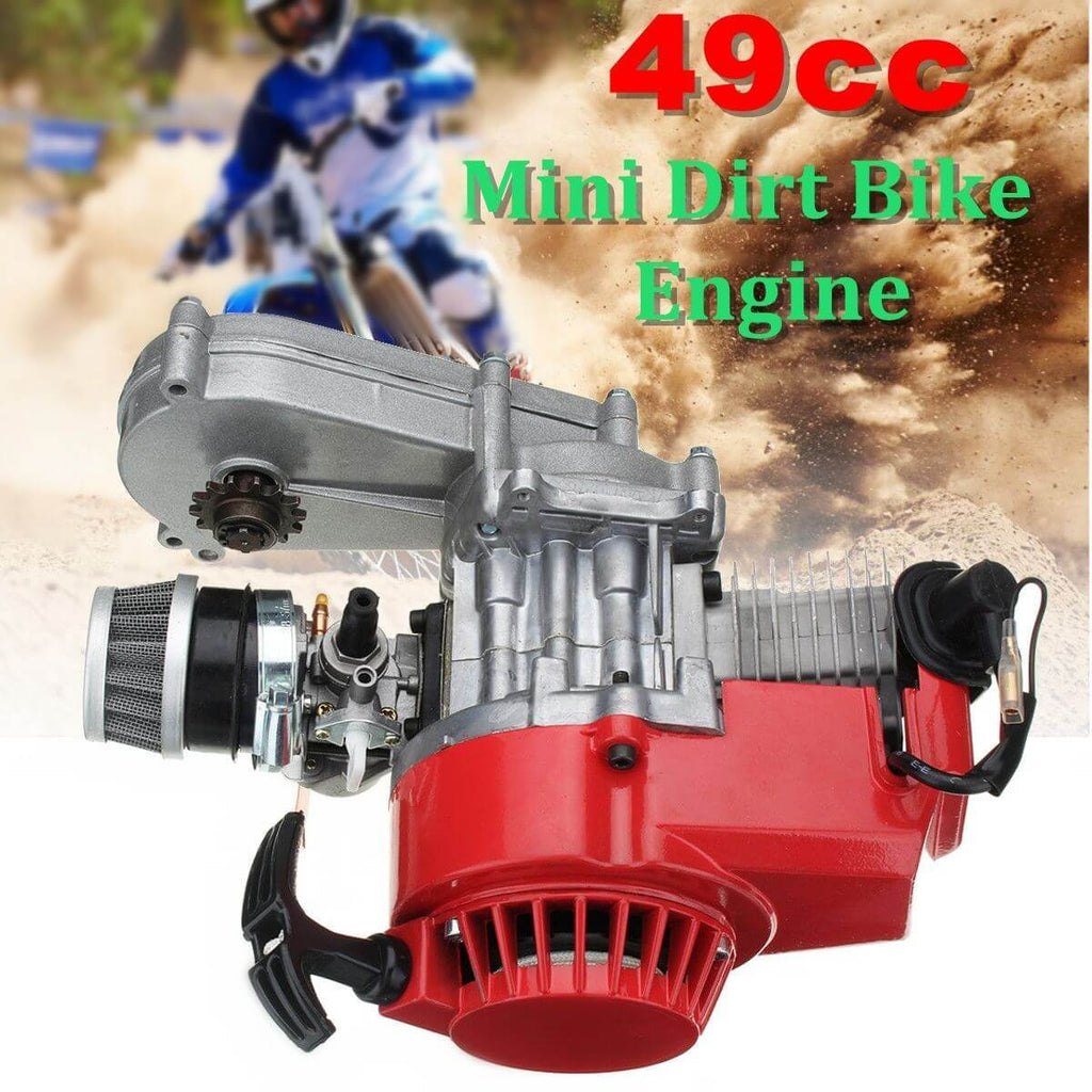 2 Stroke Engine with Transmission for Mini Moto Dirt Bike 49cc