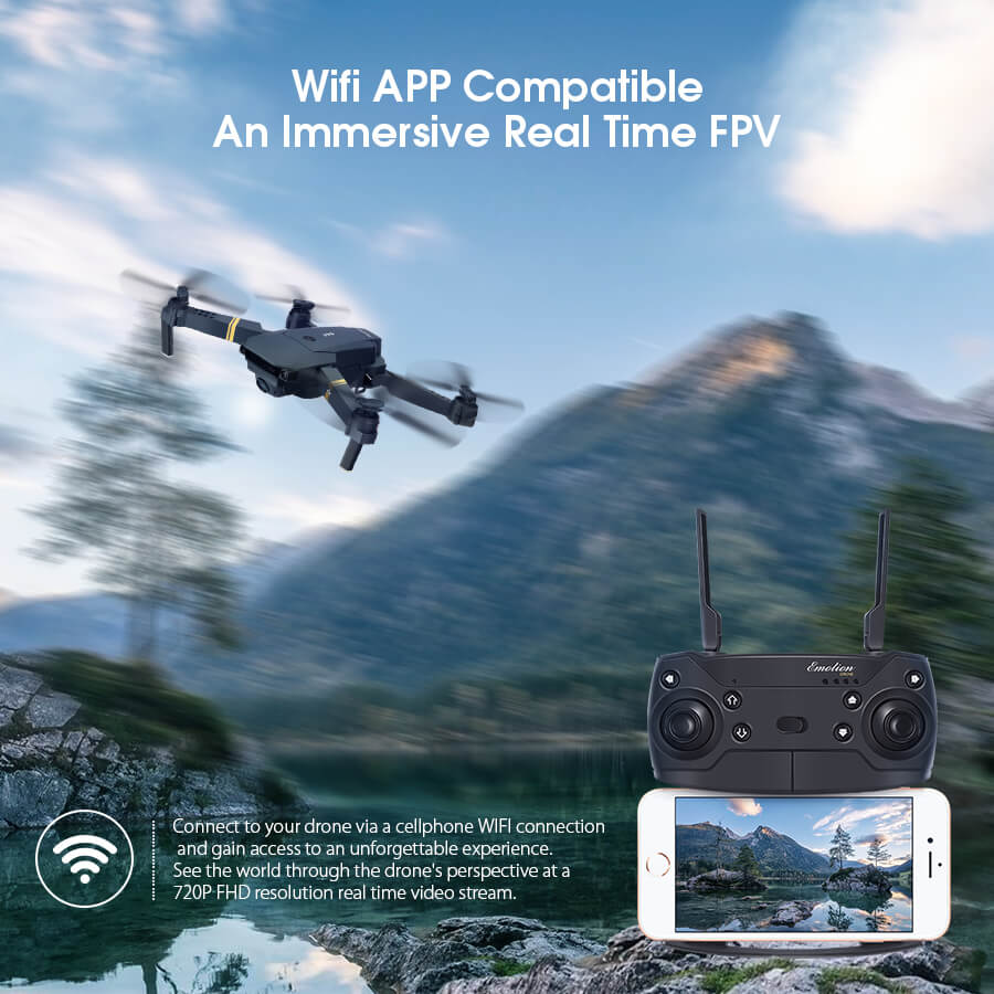 Eachine E58 Foldable Drone with Wide Angle 720P/1080P HD Live Camera Compatibility