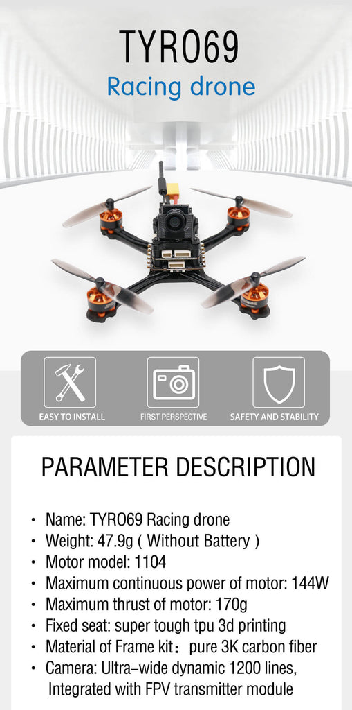 Eachine™ High-Speed Racing Drone with Camera and Caddx Beetel V2
