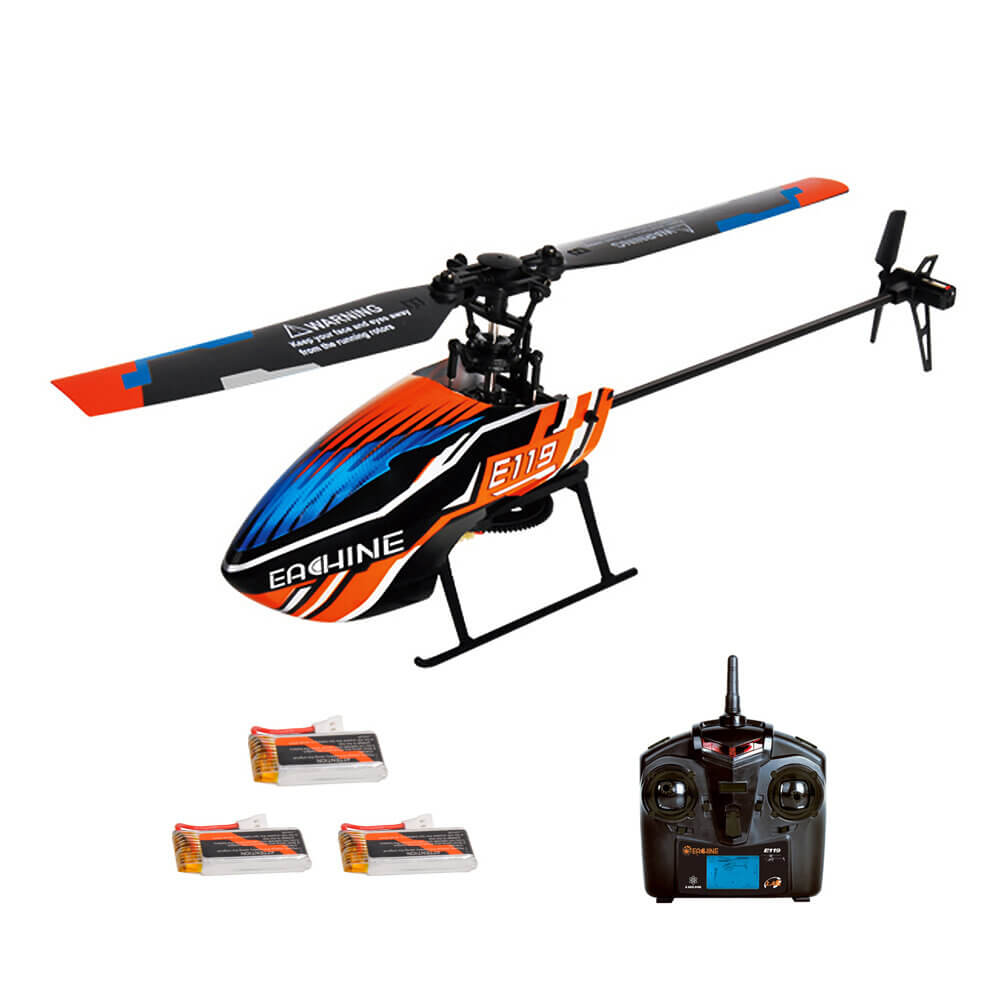 Eachine™ RC Helicopter Drone with 3 Batteries and Single-Rotor Flybarless
