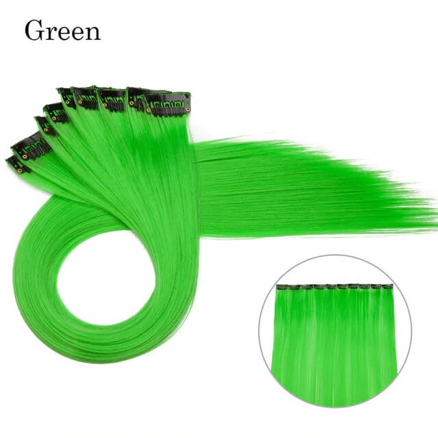 Green LuxDiva™ 20 inches Hair Extension with Highlight