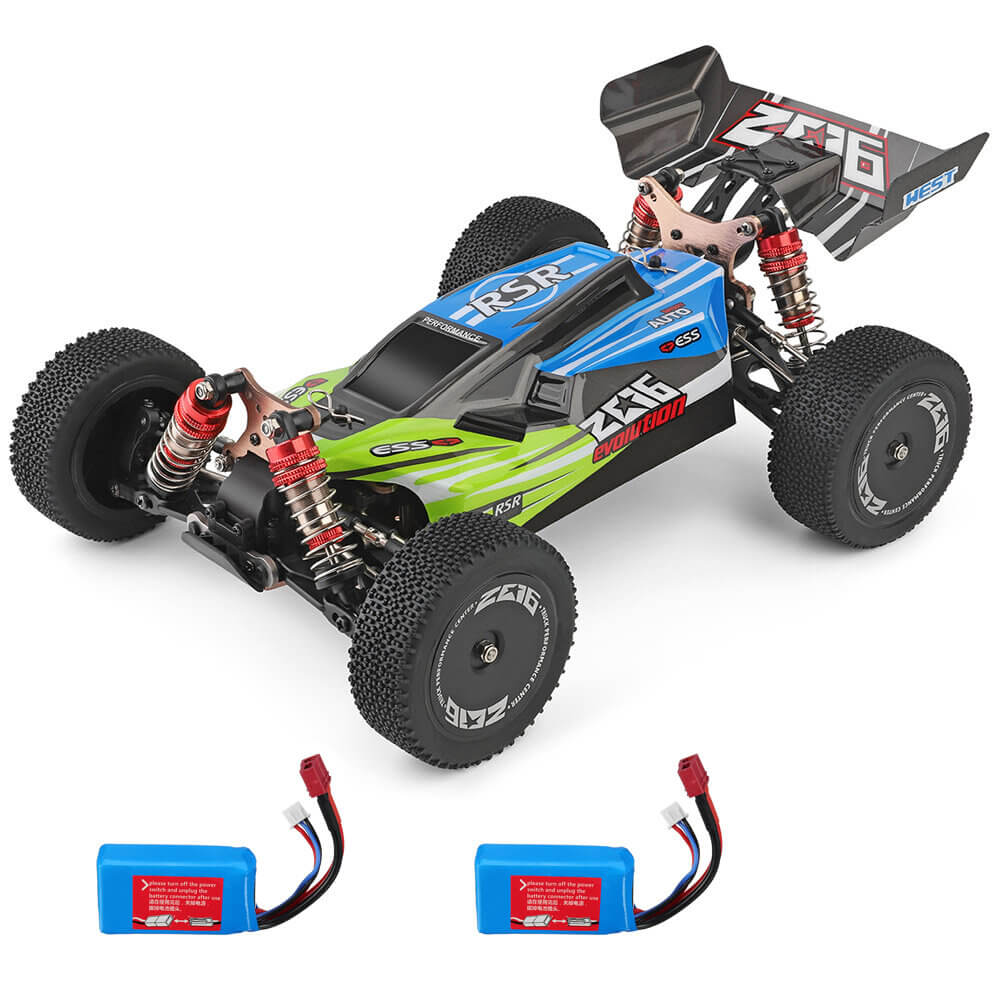 Green RCmind™ RC car with High-Speed 4WD for Off-Road