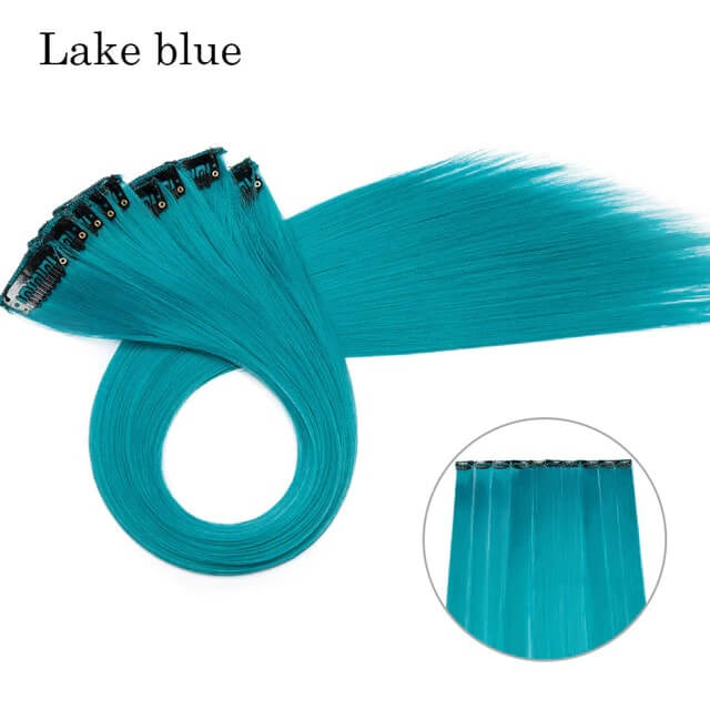 Lake Blue LuxDiva™ 20 inches Hair Extension with Highlight