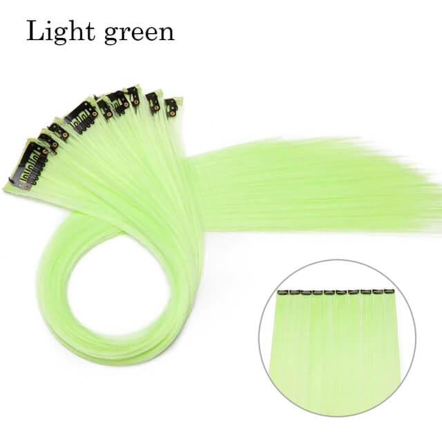 Light Green LuxDiva™ 20 inches Hair Extension with Highlight