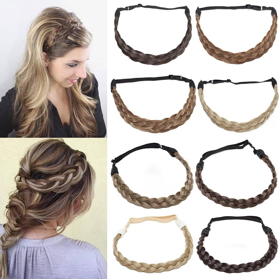 LuxDiva™ Braided Hair Headband with Adjustable Belt Design