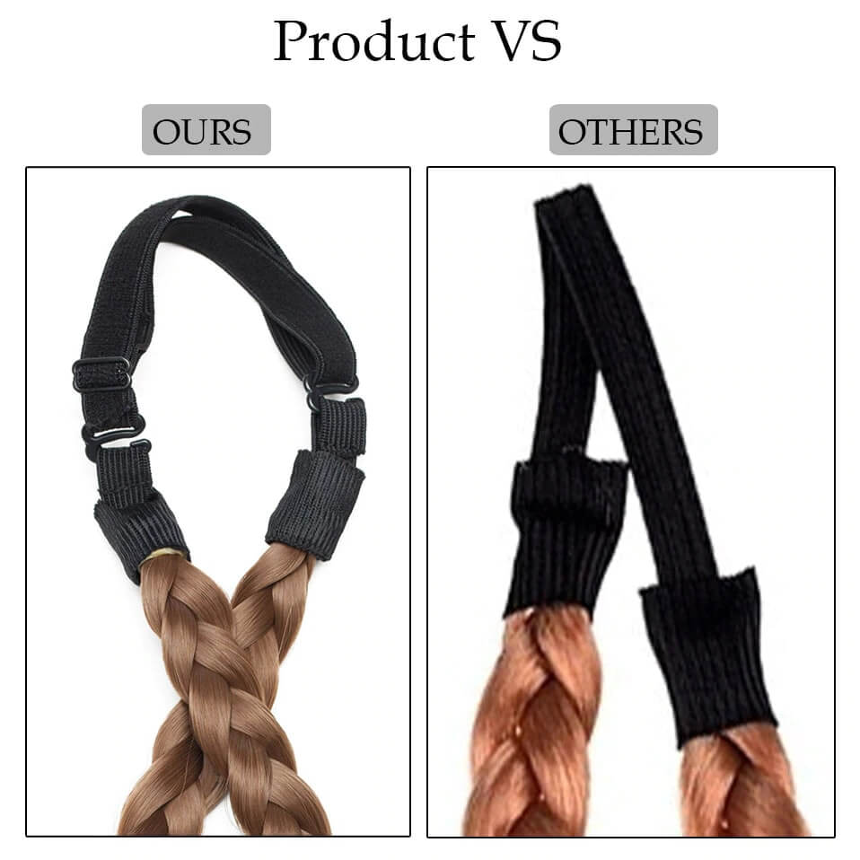 LuxDiva™ Braided Hair Headband with Adjustable Belt Comparison