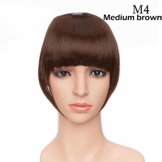 LuxDiva™ Clip In Bangs Hair Extensions for Women