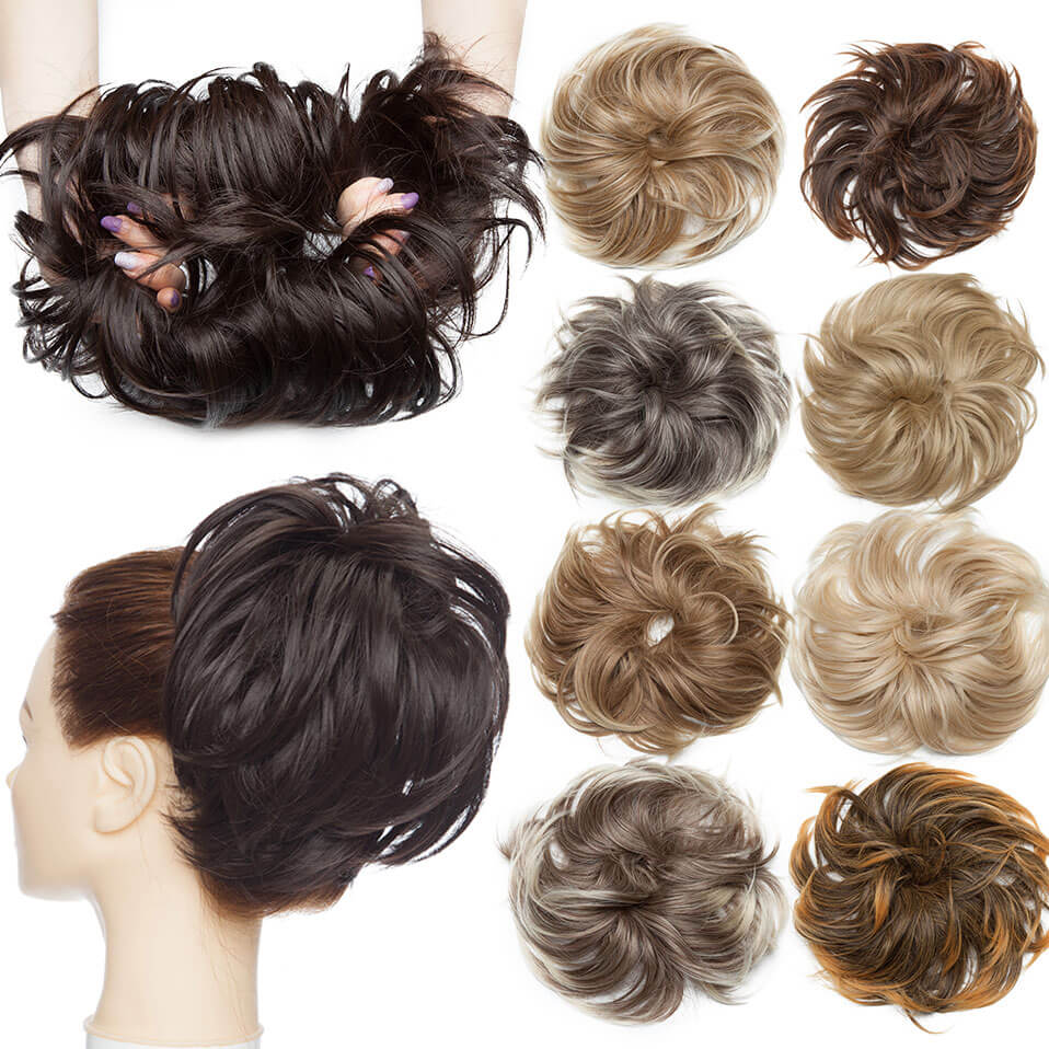 LuxDiva™ Fluffy Hair Bun Tousled Hairpiece with Elastic Band