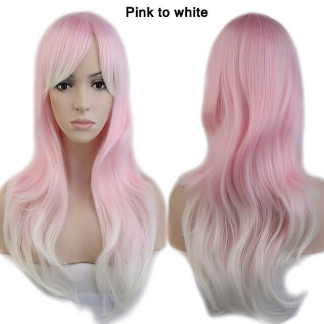 LuxDiva™ Colored Loose Wave Synthetic Wig for Cosplay