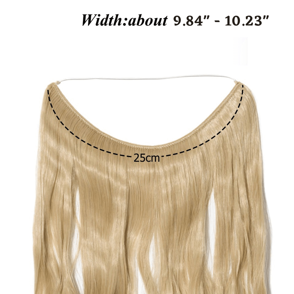 LuxDiva™ One Piece Halo Hair Extension with Invisible Wire
