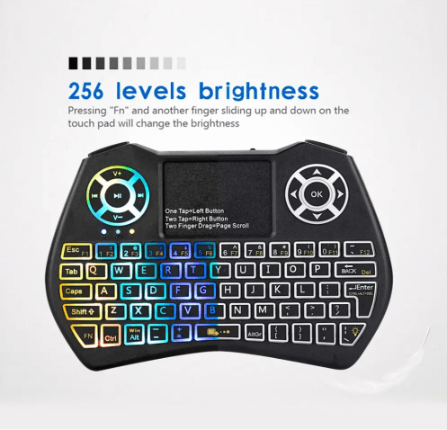 MiniPC™ Mini Wireless Keyboard and Mouse for PC, Smart TV, and Projector with Brightness Level