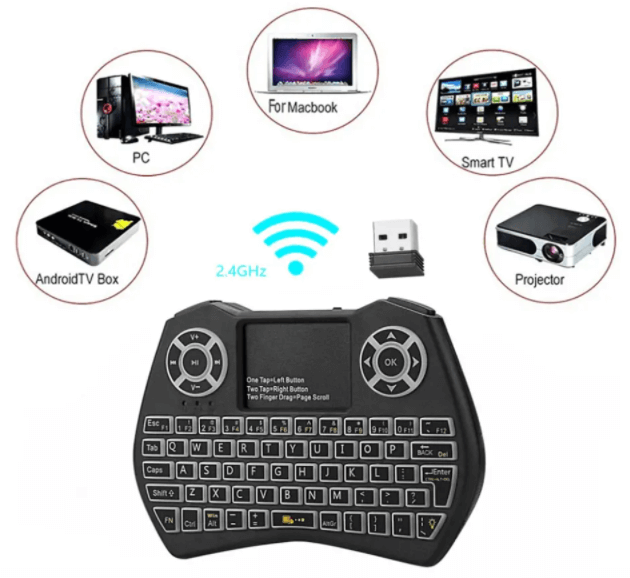 MiniPC™ Mini Wireless Keyboard and Mouse for PC, Smart TV, and Projector