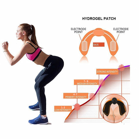 Bargainova™ Muscle Stimulator Machine with Electric Massage for Toner for Abs Butt & Hips